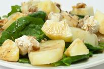 Receta del jueves: ensalada de patata con espinacas y manzana